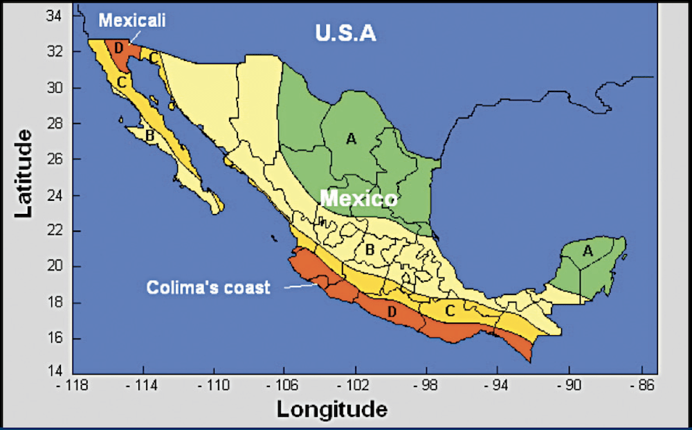 non-ceramic bushing Past Experience in Mexico with Non-Ceramic Bushings in Contaminated & Seismic Areas Seismic regions of Mexico