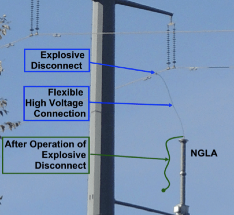 tlsa Achieving Long Service Life from Transmission Line Arresters Installation of bottom phase arrester supported from below in Alberta Canada 1