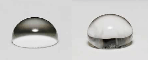 [object object] Chemistry & Properties of Silicones Water droplet on clean silicone coating and on coating with pollution layer due to hydrophobicity transfer effect