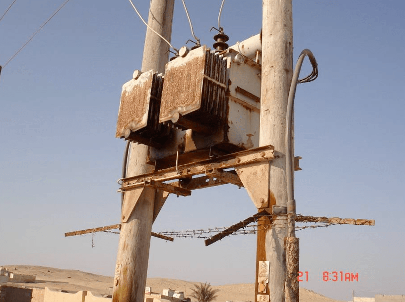 insulation Resolving Problems from Poor Insulation Performance in Desert Environments Corrosion of pole mounted transformer in Oman