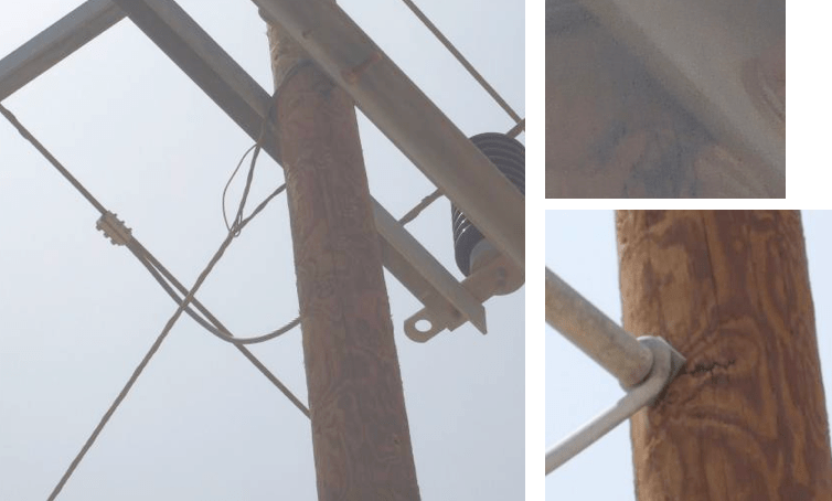insulation Resolving Problems from Poor Insulation Performance in Desert Environments Unbonded steelwork allows tracking to occur on pole at both cross arm and cross strut