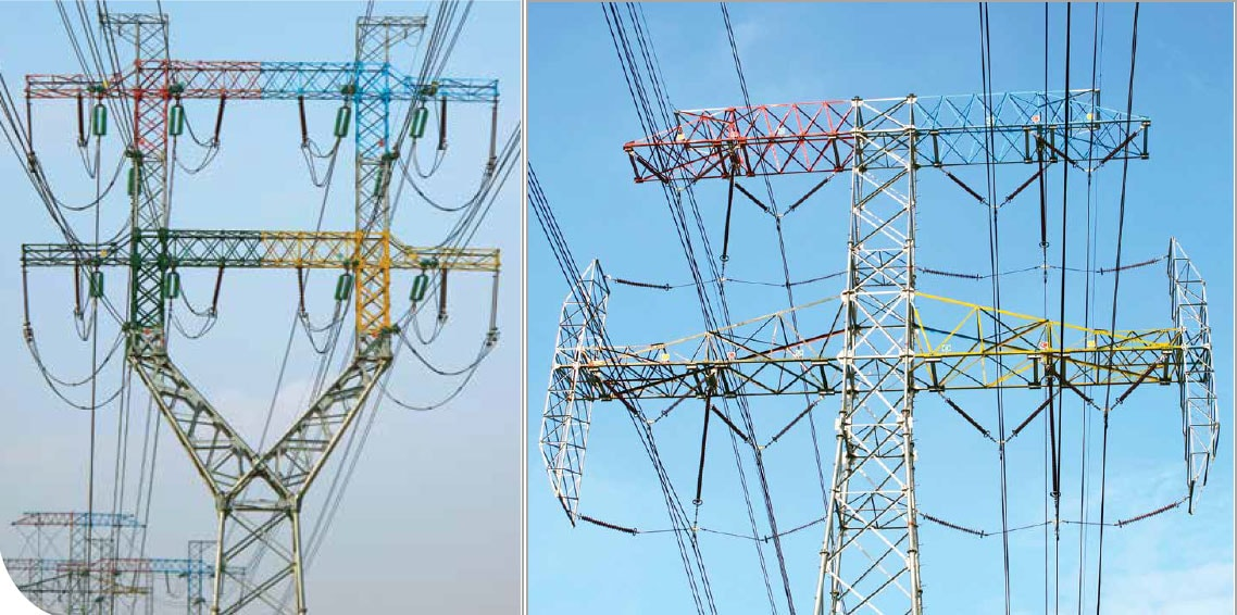 Both suspension and tension towers along this line break new ground in design and appearance. transmission structure The World's Remarkable Transmission Structures Both suspension and tension towers along this line break new ground in design and appearance