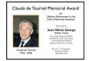 Jean-Marie George Receives Claude de Tourreil Memorial Award for 2018