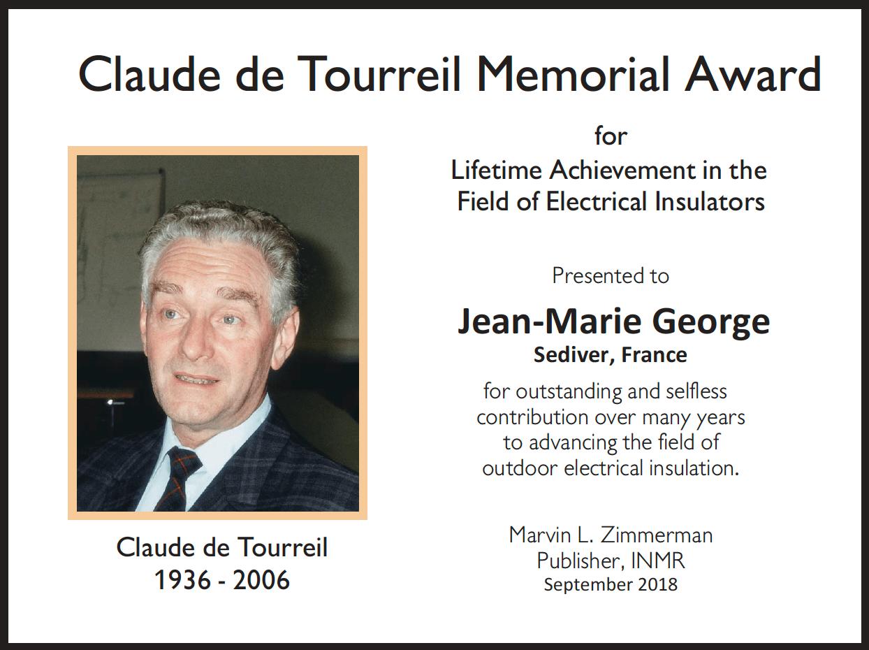 claude de tourreil claude de tourreil Jean-Marie George Receives Claude de Tourreil Memorial Award for 2018 Claude de Tourreil Memorial