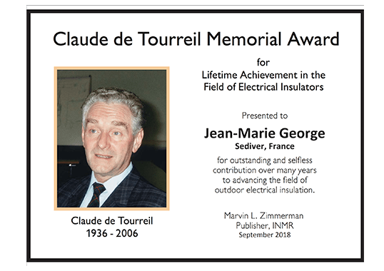 claude de tourreil Jean-Marie George Receives Claude de Tourreil Memorial Award for 2018 Claude de Tourreil