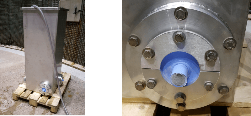 composite insulator Testing Adhesion Between Fiberglass Rod & Housing in Composite Insulators Tank for water penetration test close up of sample