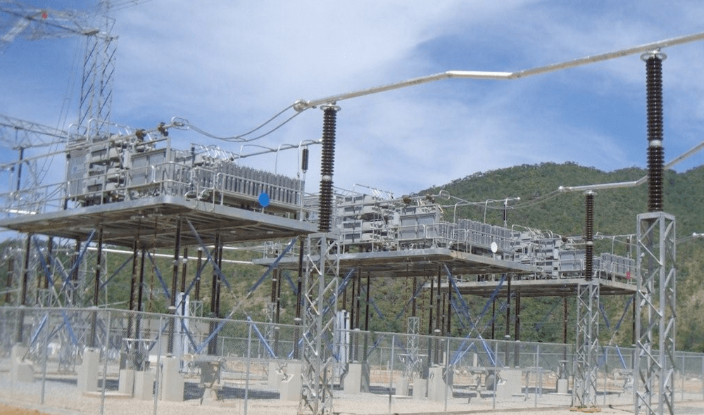 Series capacitor bank in Brazil showing all three phases on 500 kV platforms. capacitor bank MOV Protection of Series Capacitor Banks Series capacitor bank in Brazil showing all three phases on 500 kV platforms