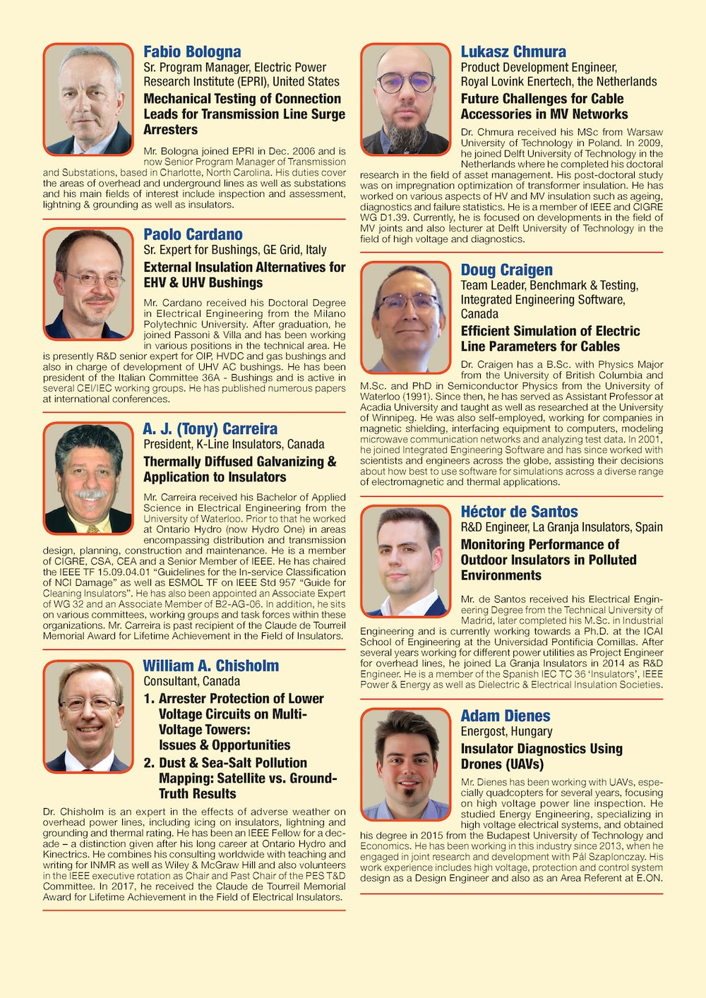 General Information for Exhibitor's Catalogue Congress Speakers Feb 13th Hi Res Page 02