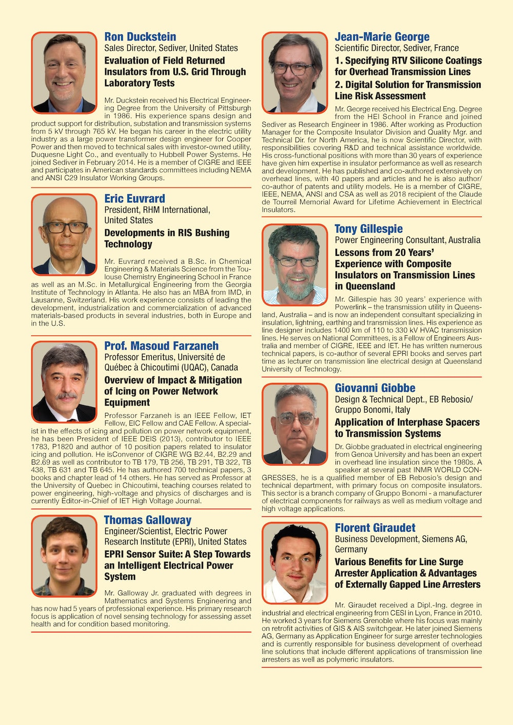 General Information for Exhibitor's Catalogue Congress Speakers Feb 13th Hi Res Page 03