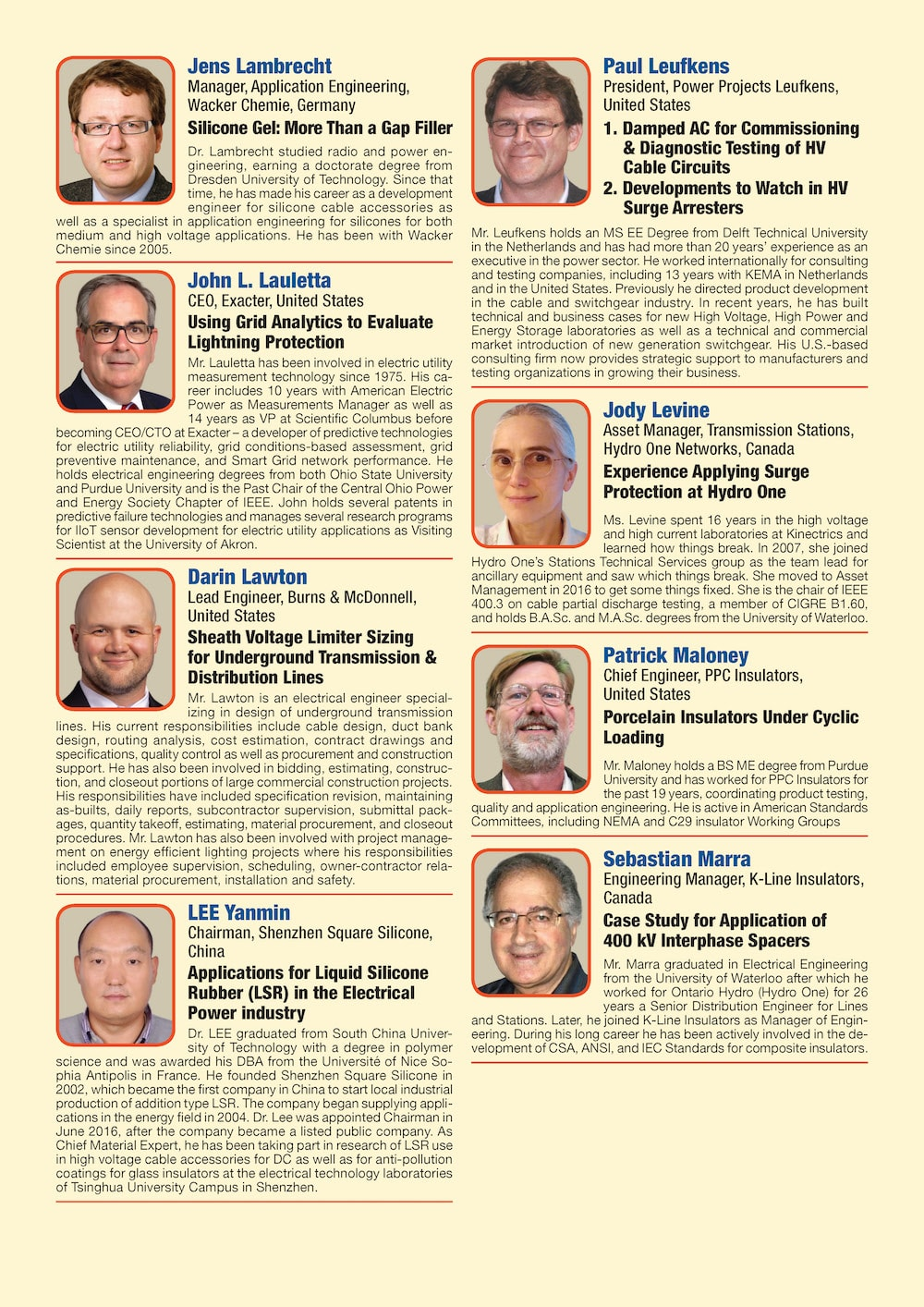 General Information for Exhibitor's Catalogue Congress Speakers Feb 13th Hi Res Page 06