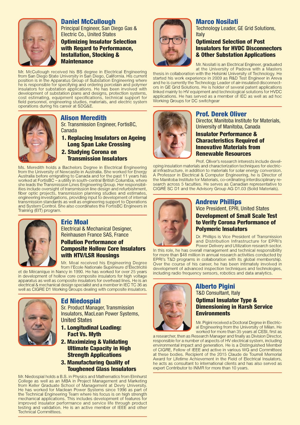 General Information for Exhibitor's Catalogue Congress Speakers Feb 13th Hi Res Page 07