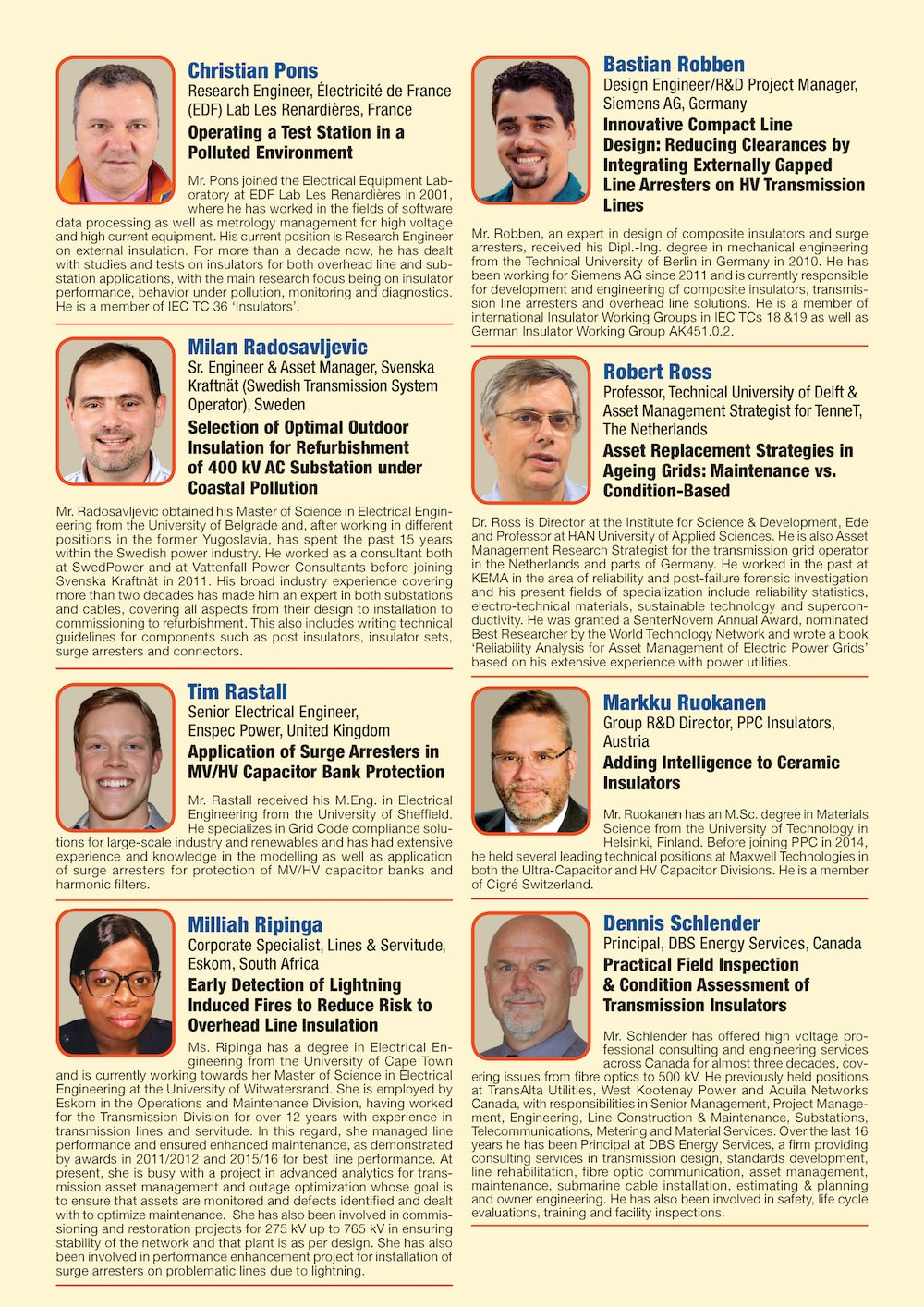 General Information for Exhibitor's Catalogue Congress Speakers Feb 13th Hi Res Page 08