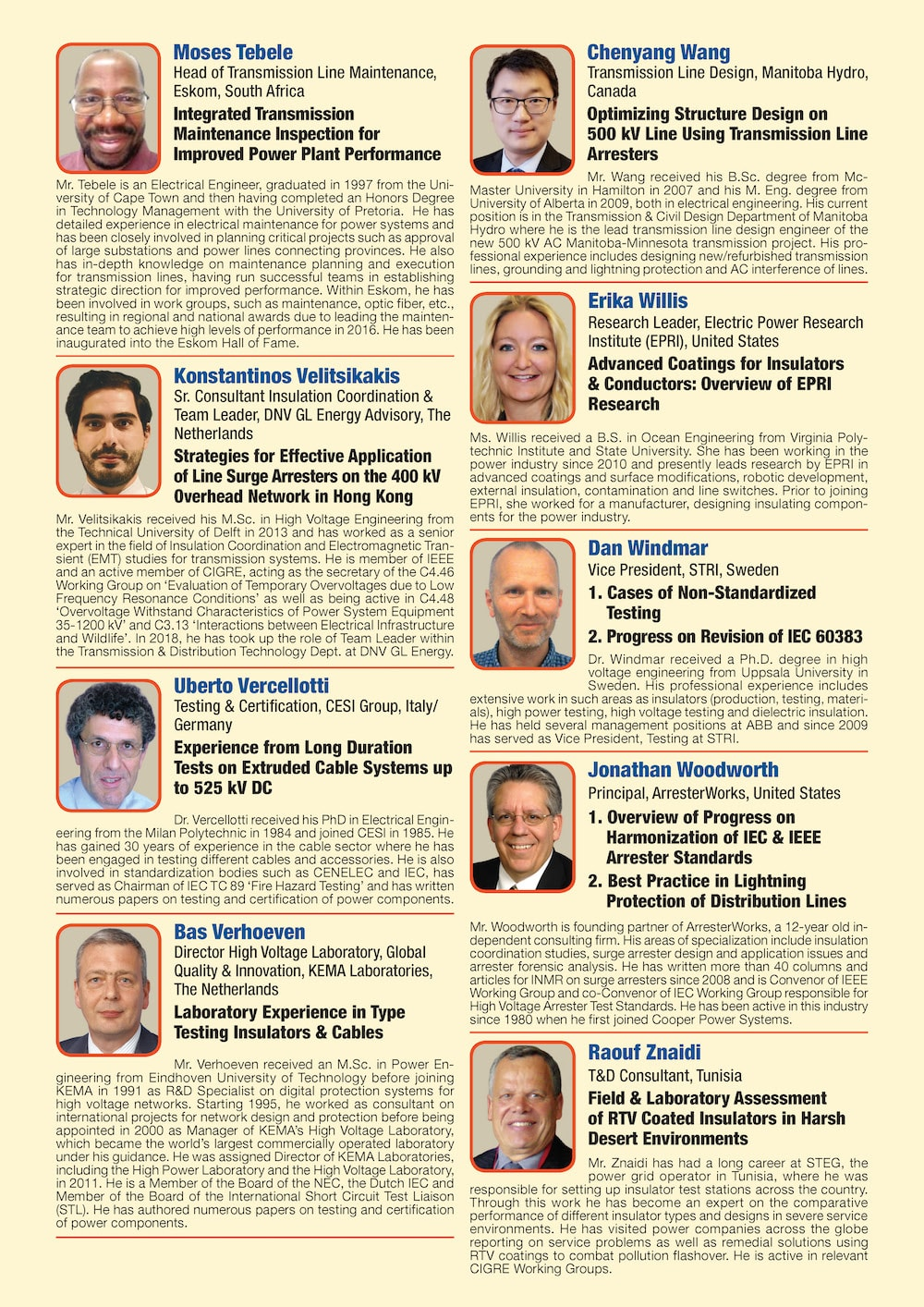General Information for Exhibitor's Catalogue Congress Speakers Feb 13th Hi Res Page 10