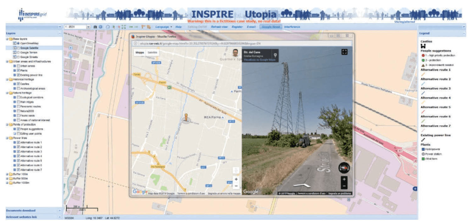 impact of climate change on power systems & electrical insulation: experience in italy Impact of Climate Change on Power Systems & Electrical Insulation: Experience in Italy Example of screenshot of participative Web GIS developed in INSPIRE Grid