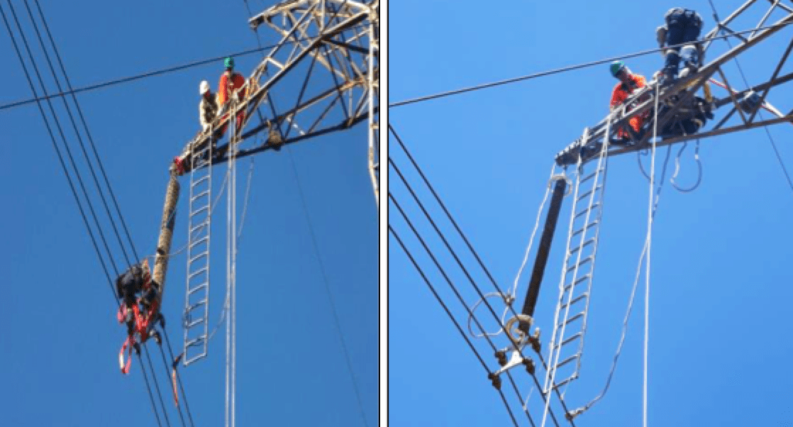 Applying Composite Line Insulators Under Natural Pollution Replacement of coated glass string with composite insulator
