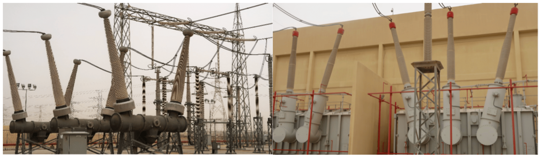 Station high voltage insulator coating with RTV at Al Fadhili back-to-back converter station.
