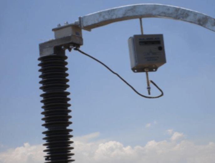 Fig. 5: Lightning current counter. [object object] Field Experience with EGLA Type Line Arresters in Mexico lightning current counter