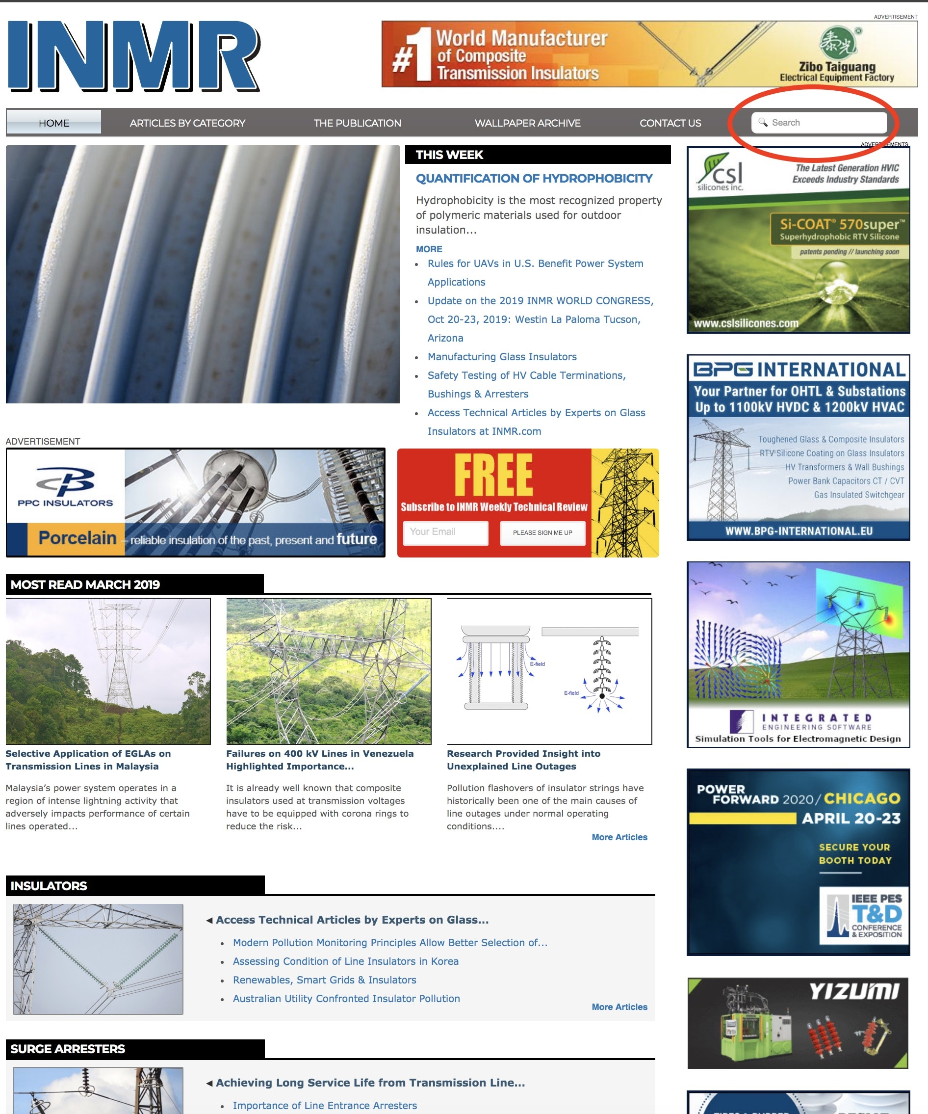 Setp 1 to Search Technical Articles at INMR.com technical articles Access Technical Articles by Experts on Surge Arresters Access Technical Articles by Experts on Laboratory Testing