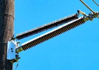 Meet Expert in Line Arrester Application,  Bryan Beske, at the  2019 INMR WORLD CONGRESS Tucson, Arizona, USA Oct 20-23 69 kV line with extra insulation to accommodate climbing space 1 338x239  Homepage 2019 69 kV line with extra insulation to accommodate climbing space 1 338x239