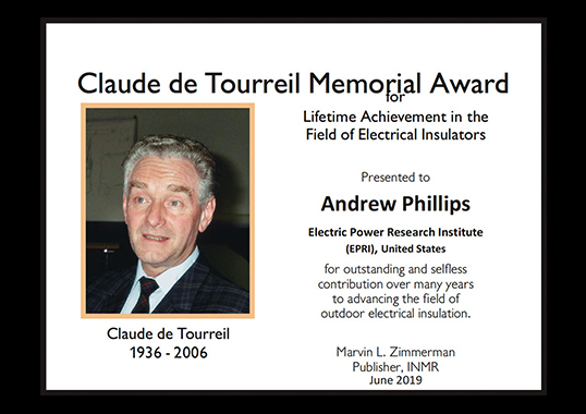 [object object] Andrew Phillips Receives 2019 Claude de Tourreil Memorial Award Andrew Phillips Receives 2019 Claude de Tourreil Memorial1