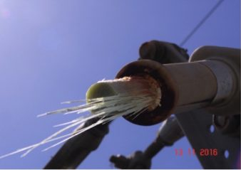 transmission line Brittle Fracture Failure of 400 kV Polymeric Insulator General view of insulator where fracture occurred 338x239  Homepage 2019 General view of insulator where fracture occurred 338x239