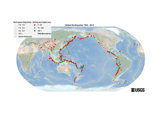 [object object] Development of Bushings for Seismic Conditions Global earthquake world map in the period 1900 2013