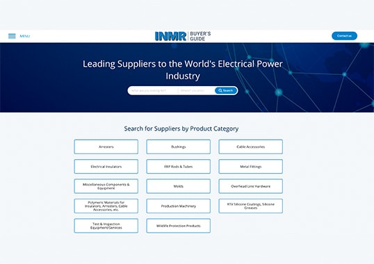 Updated & Re-Designed www.INMRBUYERSGUIDE.com Allows Users of Power System Components to Choose Among Qualified Suppliers INMR BUYERS GUIDE  Homepage 2019 INMR BUYERS GUIDE