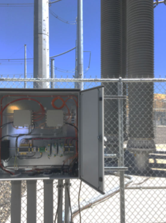 Innovations & Applications for Composite Hollow Core Insulators Control cabinet housing ISM   at Celilo Substation