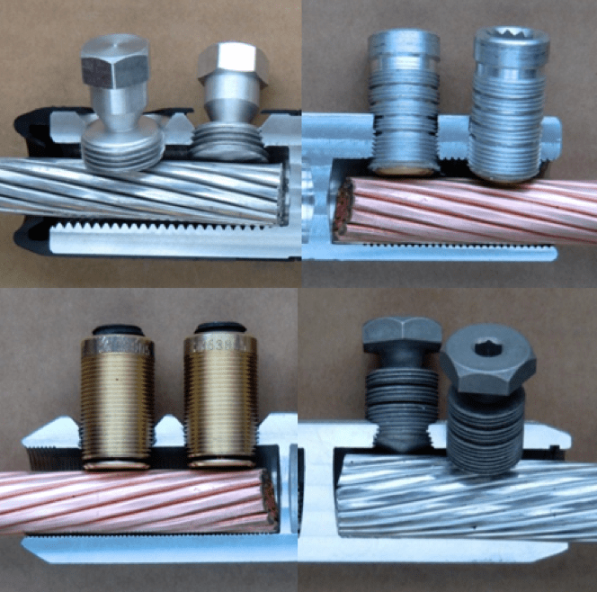 Cable Accessory Technologies & Developments to Watch Design variants of different examples of shear bolt connector