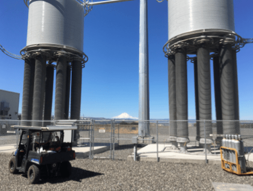 Innovations & Applications for Composite Hollow Core Insulators Support structures of two of four air core smoothing reactors at Celilo Substation