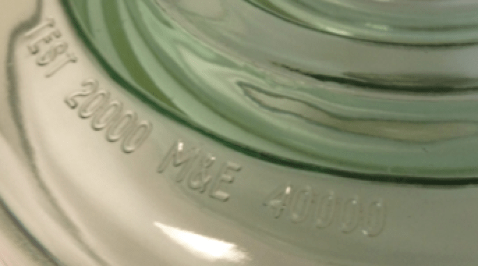 Manufacturing & Quality of Toughened Glass Insulators Product markings on glass shell