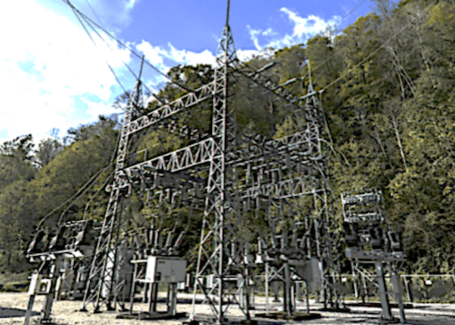 Surge Arrester Sizing for Sub-Transmission Systems Using Grounding Transformers transmission station