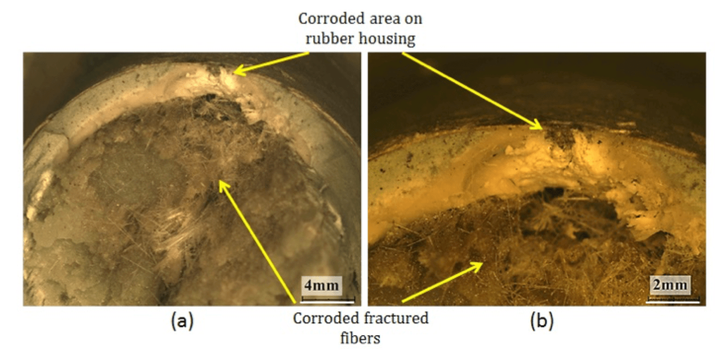 Stress Corrosion Cracking & Brittle Fracture of 400 kV Insulator in Humid Environment Cross section of fracture surface