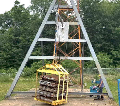 Braced Line Post Testing Onset of post insulator buckling during physical testing
