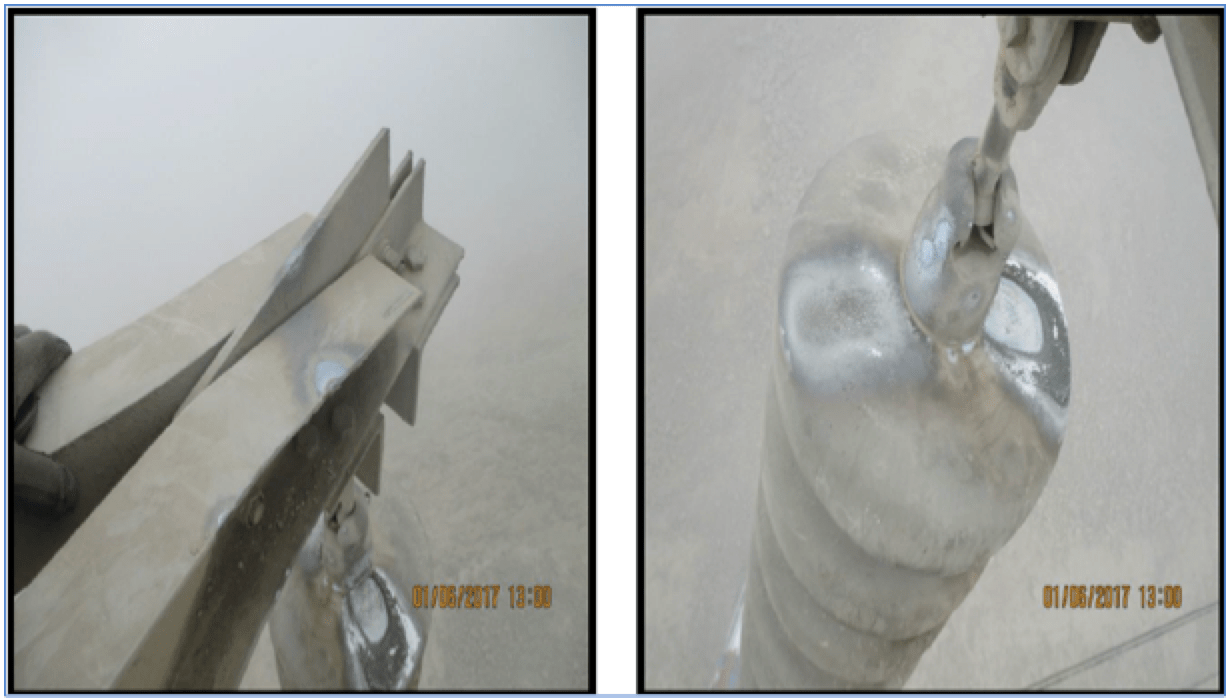 Maintaining RTV Coated Glass Insulators in Zones of High Salt Contamination Discharge due to pollution on 500 kV RTV coated glass insulator