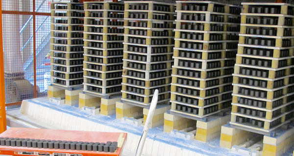 Development of Distribution Arrester Technology Metal oxide blocks after cycle in kiln