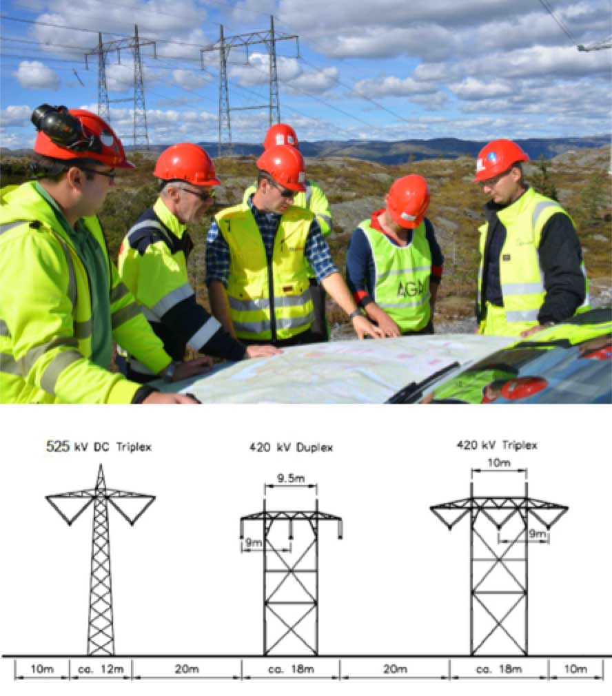 Network Expansion at Norwegian TSO (Part 1 of 2) Statnett engineers review route of planned new hybrid corridor that will pass this location