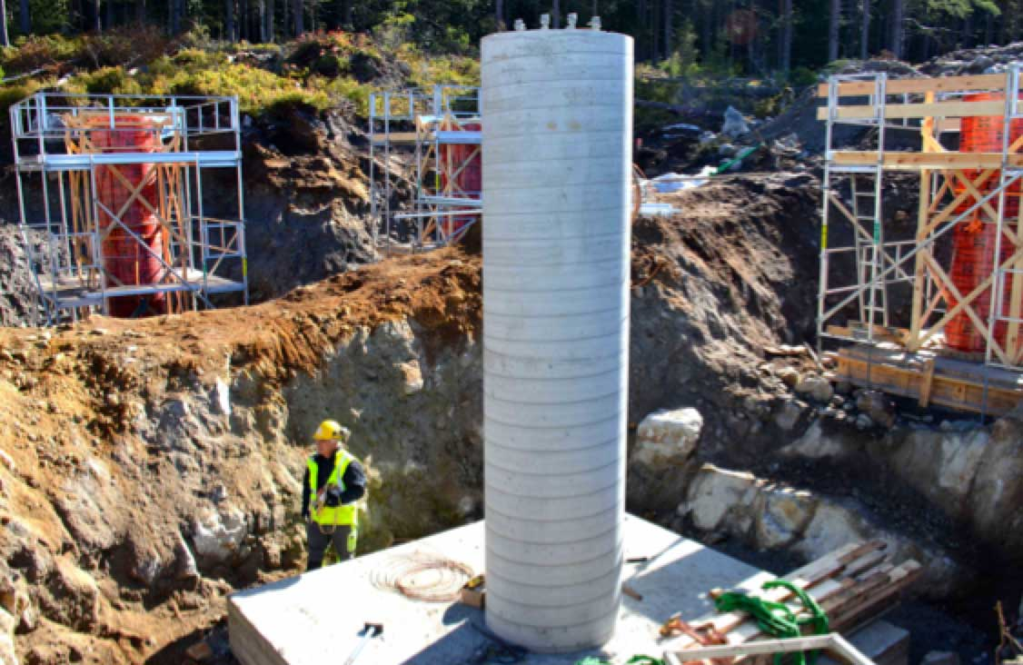 Network Expansion at Norwegian TSO (Part 1 of 2) Terminal tower of new 420 kV line designed for one side tension and required geologist to help plan foundation given variable ground conditions