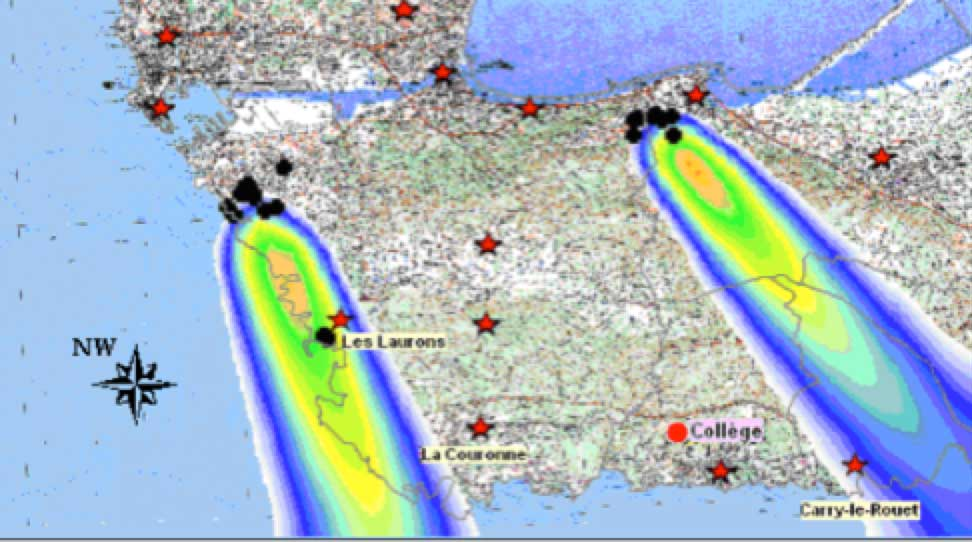 Operating a Test Station in a High Pollution Environment Simulation of SO2 distribution