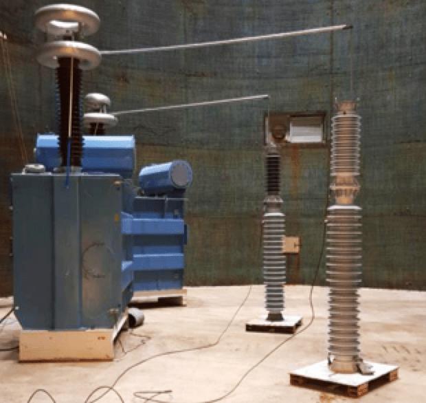 Selecting Optimal RTV Coatings When Refurbishing 400 kV Substations Under Coastal Pollution Test set up for pollution flashover voltage test