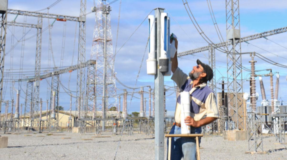 Man spraying DDDGs in South Africa